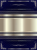 Silver frame with floral elements 17 Royalty Free Stock Image