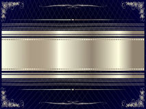 Silver frame with floral elements 9 Royalty Free Stock Photos