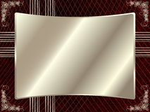 Silver frame with floral elements 5 Stock Photos
