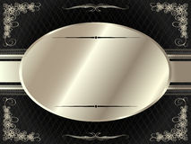 Silver frame with floral elements 7 Stock Images