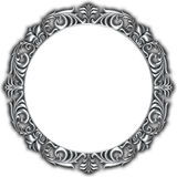 Silver frame isolated. On white background Stock Images
