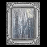 Silver frame isolated on black. It is silver frame isolated on black Royalty Free Stock Photo