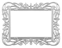 Silver frame Stock Image