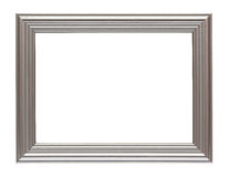Silver frame isolated on white. Picture frame to put pictures in Royalty Free Stock Photos