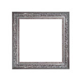 Silver frame isolated on white background Royalty Free Stock Photo