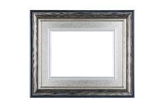 Silver frame isolated on white with clipping path Royalty Free Stock Photos