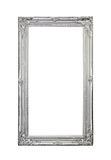 Silver frame. Silver mirror frame isolated included clipping path Stock Images
