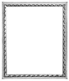 Silver frame. Old silver wooden frame for mirrors and tapestries Stock Photos
