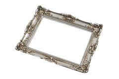 Silver frame in perspective Royalty Free Stock Images