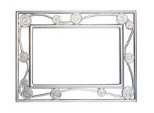 Silver frame for pictures Royalty Free Stock Image