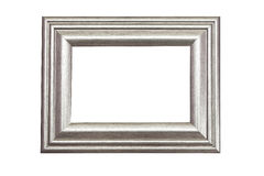 Silver frame. Silver shint wood frame isolated Royalty Free Stock Images
