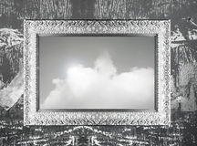 Silver frame and sky Stock Image