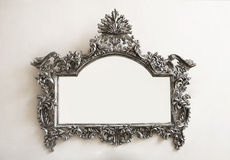 Silver frame warm tones Royalty Free Stock Photo