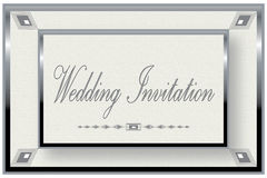 Silver Frame Wedding Invitation Royalty Free Stock Photo