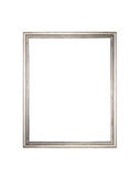 Silver frame on a white background Stock Photography