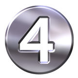 Silver Framed Number 4 Royalty Free Stock Photos