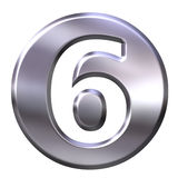 Silver Framed Number 6 Stock Image