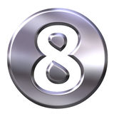 Silver Framed Number 8 Stock Images