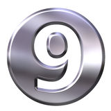 Silver Framed Number 9 Royalty Free Stock Photo