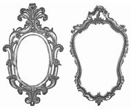 Silver frames Stock Photography