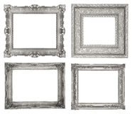 Silver frames Stock Photos