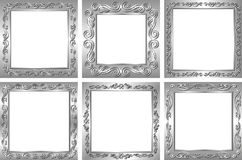 Silver frames Stock Photos