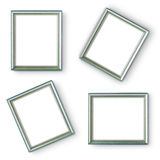 Silver frames Stock Photography