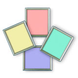 Silver frames Royalty Free Stock Photography