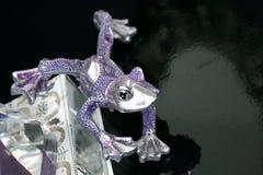 Silver frog - fashionista stock photo