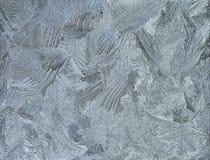 Silver frosty pattern on pane Stock Image