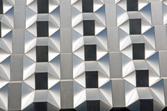 Silver futuristic facade Royalty Free Stock Photo
