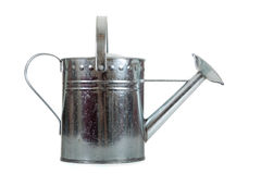 Silver Galvanized watering can Stock Photography