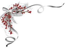 Silver garland Royalty Free Stock Images