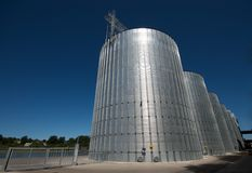 Silver gasoil tank Royalty Free Stock Photo