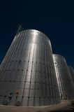 Silver gasoil tank Royalty Free Stock Photos