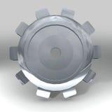 Silver gear Stock Image