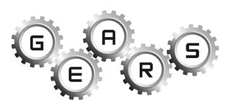 Silver gears Royalty Free Stock Image