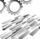 Silver gears Royalty Free Stock Photography