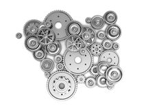 Silver gears Royalty Free Stock Photos