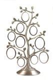 Silver genealogical family tree Royalty Free Stock Photo