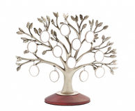Silver genealogical family tree Royalty Free Stock Images