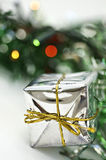 Silver gift Royalty Free Stock Images