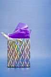 Silver Gift Bag Stock Image