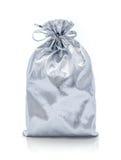Silver gift bag Stock Photo