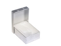 Silver Gift Box. Empty silver gift box Royalty Free Stock Photography