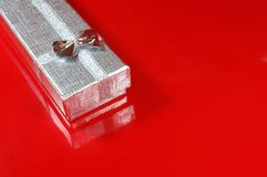 Silver Gift box Royalty Free Stock Images