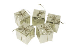 Silver gift box. Stock Image