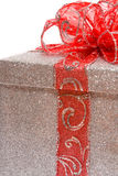 Silver gift Stock Photo