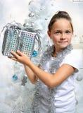 Silver gift Stock Photos