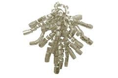 Silver gift ribbon Stock Image